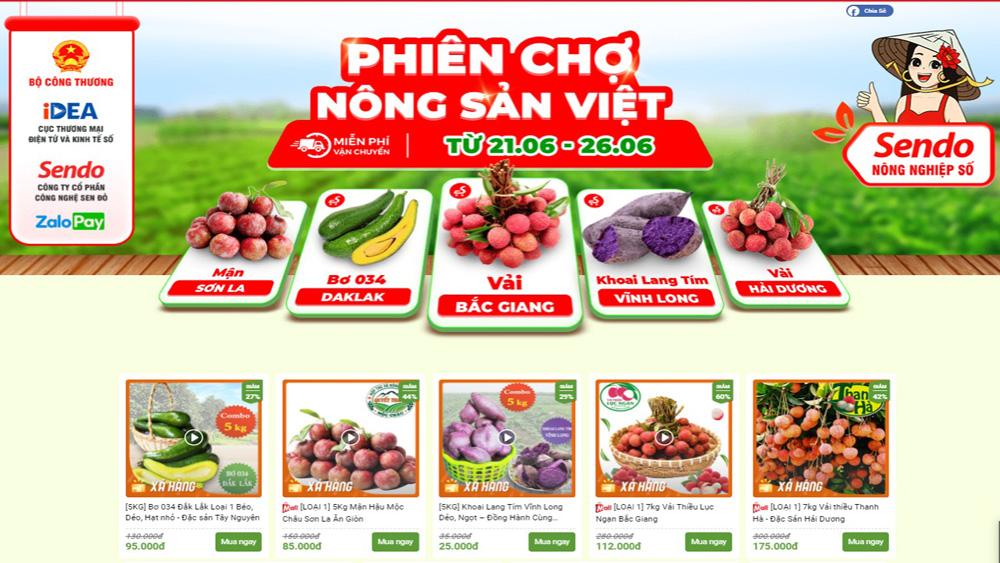 Tiếp tục bán vải thiều Bắc Giang trên sàn Sendo.vn